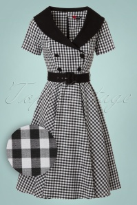 Bunny Bridget 50s Black White Checkered Dress 102 14 20036 20161103 0015W1