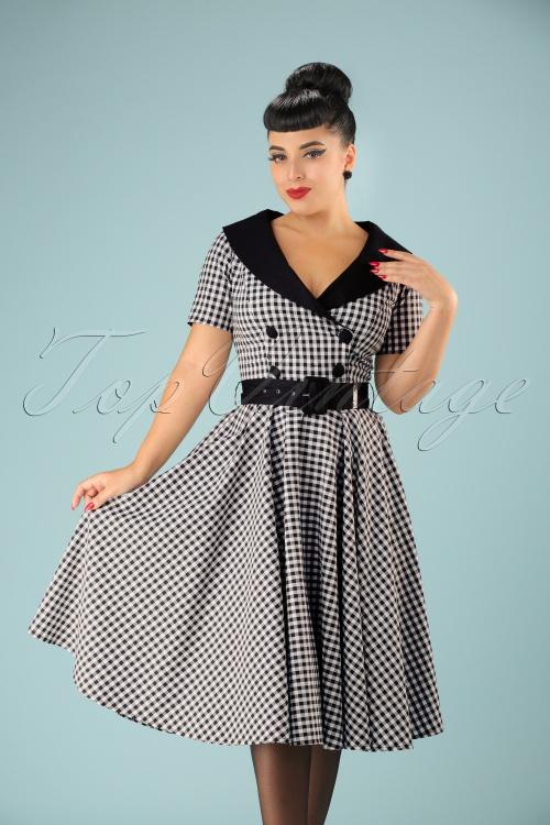 Bunny Bridget 50s Black White Checkered Dress 102 14 20036 20161103 001 modelfoto