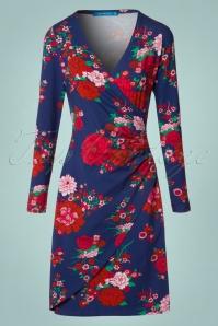 Lien & Giel Buenos Aires Blue Floral Dress 100 39 21661 20170807 0002W