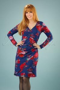 Lien & Giel Buenos Aires Blue Floral Dress 100 39 21661 20170807 0012W