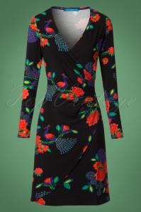 Lien & Giel Buenos Aires Peacock Floral Dress 100 14 21660 20170807 0002W
