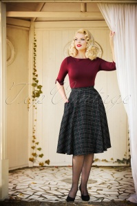 Bunny Peebles 50s Check Green Skirt 22613 22289 2W