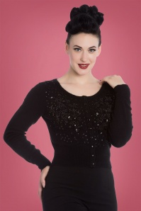Bunny Liz Cardigan in Black 140 10 22625 2