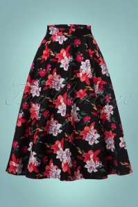 50s Liliana Swing Skirt in Black
