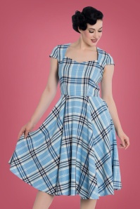 Bunny Aberdeen 50s Swing Dress in Pastel Blue 102 39 22593 20170913 0010W