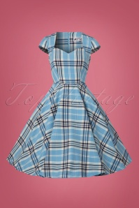 Bunny Aberdeen 50s Swing Dress in Pastel Blue 102 39 22593 20170913 0002W