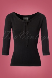 Dancing Days by Banned Pretty Illusion Black Bow Top 113 10 22394 1W
