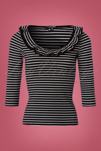 Bunny Zsa Zsa Black and White Striped Top 111 14 22621 20170913 0001W
