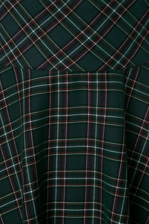 50s peebles tartan swing dress in green. Black Bedroom Furniture Sets. Home Design Ideas