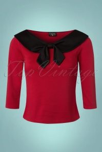 Steady Clothing Betsy 3 4 Sleeve Bow Top 113 20 22327 20170912 0003W