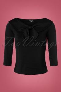 50s Betsy Tie Top in Black