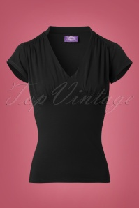 50s Scarlett Top in Black