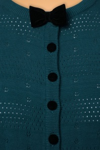 Collectif Clothing Layla Cardigan in Blue 21812 20170609 0007