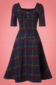 Collectif Clothing Dolores HS Darling Check Flared Dress  21850 20170614 0015w