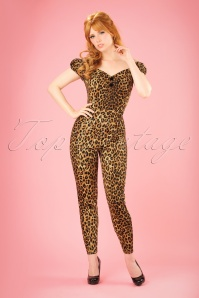 Collectif Clothing Dolores Leopard Jumpsuit 21828 20170615 0010W