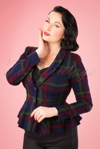 Collectif Clothing Meryl Darling Check Suit Jacket 21763 20170609 0010W