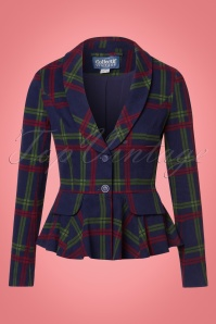 Collectif Clothing Meryl Darling Check Suit Jacket 21763 20170609 0002W