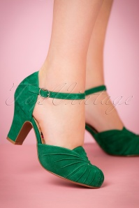 Miss L Fire Amber Mary Pump in Green 402 40 21257 model 13092017 005W