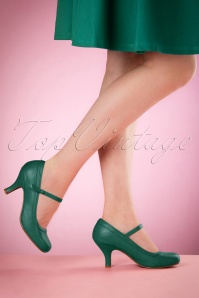 50s Bettie Pumps in Green