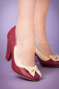 Bettie Page  Bailey Burgund Pumps 400 20 21498 model 13092017 006W