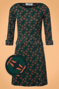 60s Dalie Evening A-Line Dress in Green