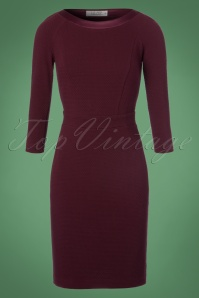 60s Dorit Pencil Dress in Purple
