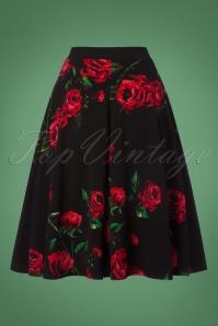 Vintage Chic Roses Swing Skirt 122 14 22517 20170918 0005w