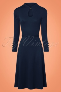 50s Dita Swing Dress in Navy