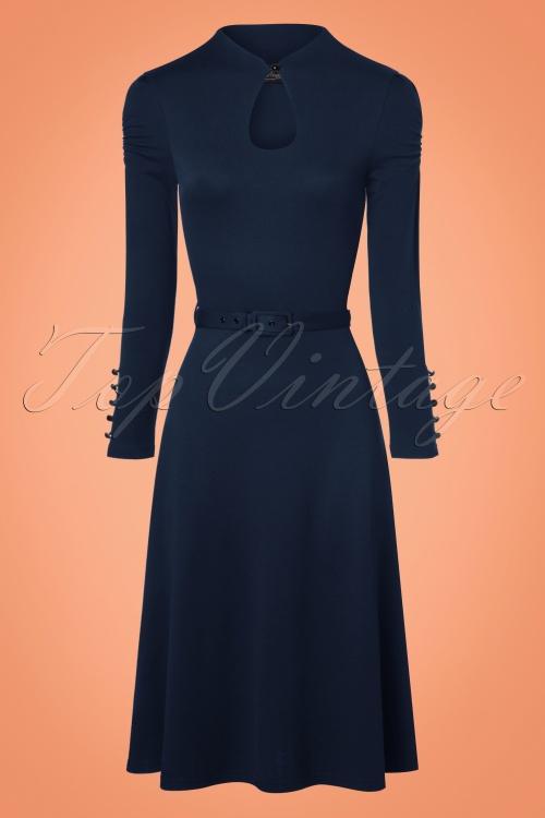 Vixen Dita Keyhole Swing Dress in Navy 102 31 22451 20170918 0001w