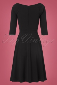 Vintage Chic Black Scuba Crepe Dress 102 10 22502 20170918 0008w