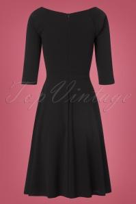 Vintage Chic Black Scuba Crepe Dress 102 10 22502 20170918 0008w