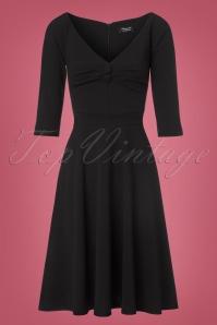 Vintage Chic Black Scuba Crepe Dress 102 10 22502 20170918 0003w