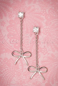 Collectif Bow earrings silver 333 92 21640 06072017 003W