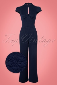 Vixen  Maude High Neck Jumpsuit in Navy 133 30 22062 20170919 0003wv