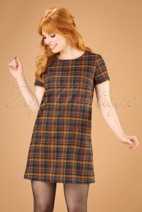 60s Ella Highland Mini Dress in Pumpkin