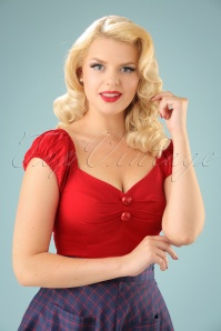 Dolores top Carmen en Rouge