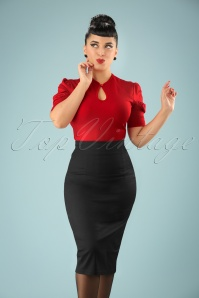 Collectif Clothing Fiona Pencil skirt Années 50 en Noir