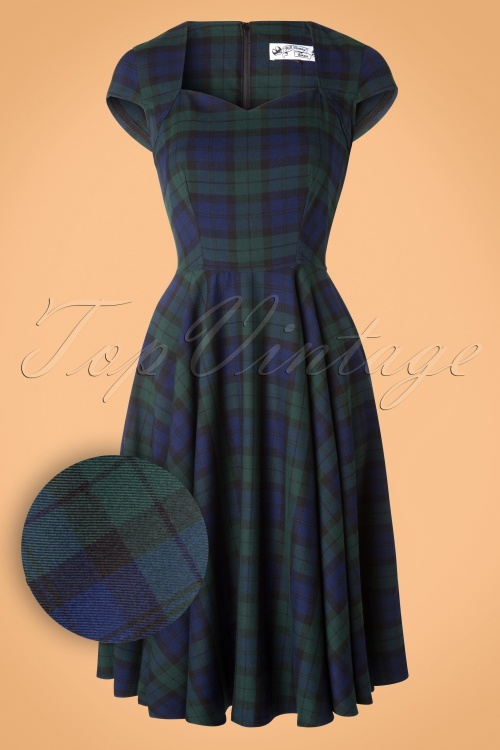 44cab3af376f Bunny Dolaree Tartan Blue Green Swing Dress 102 39 16737 20151021 0016W2