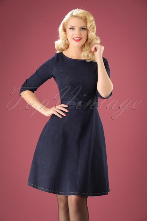 King Louie Denim Betty Dress in inkblue 102 31 21284 20170811 0001w