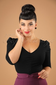 Vixen Von Teese Shirt in Black 113 10 22031 20170821 0001W
