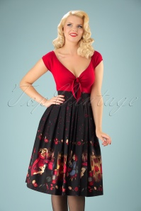 50s Vanity Swing Skirt in Black
