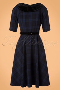 Bunny Livingston Blue Checked Swing Dress 102 39 19560 20170731 0019W