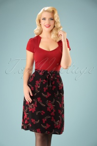 King Louie Rosa Black Cherry Skirt 122 14 21338 20170810 01w