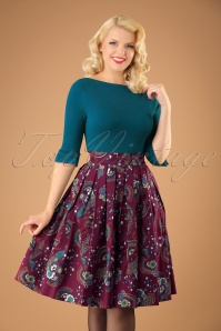 Dancing Days by Banned Franky Peacock Swing Skirt 122 27 22376 20170808 1w