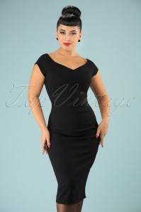 Vintage Chic Sweet heart crepe dress 100 20 20992 20170712 1w