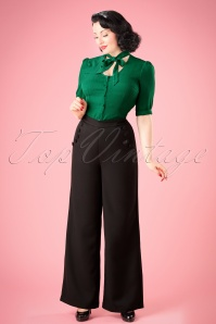 40s Roma Trousers in Black