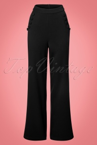 Vixen Long Trousers in Black 131 10 22047 20170907 0003w