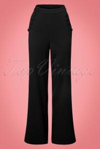 Vixen Long Trousers in Black 131 10 22047 20170907 0003w