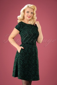 King Louie Betty Dress in Black and Green 102 14 21364 20170811 01w