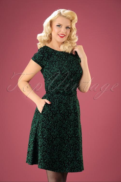 60s Betty Razzle Dazzle Dress In Black